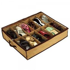 12 Pairs of Shoes Under Bed Shoe Organizer