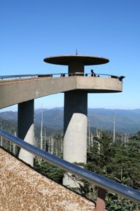(Clingmans Dome is the highest point in the Great Smoky Mountains National Park. It is the highest point in Tennessee, and the third highest mountain east of the Mississippi.) Looks like a gorgeous view. Wouldn't mind stopping through nashville in the same trip!