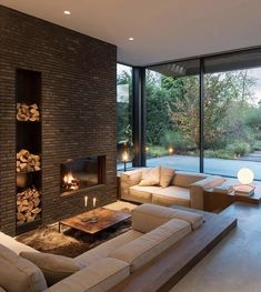 Modern Interior, Home Interior Design, Interior Architecture, Interior And Exterior, Room Interior, Modern Luxury, Interior Ideas, Sunken Living Room, Living Rooms