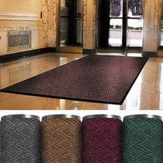 """3' x 5' Burgundy Superior Vinyl Carpet Mat, 1 EACH by Plexon Products. $162.99. 3' x 5' Burgundy Superior Vinyl Carpet Mat, 1 EACH, Provides highest degree of crush resistance. Heavyweight vinyl non-slip backing ensures minimum movement. Use indoors at main entranceways or any high traffic area. 3/8"""" thickness. Vinyl BackingBurgundySuperior Vinyl Carpet Mats3' x 5' Burgundy Superior Vinyl Carpet Mat, 1 EACH. Save 28%!"""