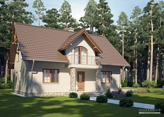 Projekt domu LK&731 Three Bedroom House Plan, Home Design Plans, Larp, Home Fashion, Sweet Home, House Design, How To Plan, Mansions, House Styles