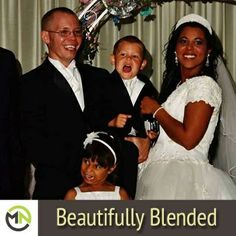 """Devin Aurelia Morgan shares...... """"This is my beautifully blended family on my wedding day 7/1/13! I'm mixed Caucasian and African-American, my husband Jamie is Caucasian (German with a little Cherokee). Our 7 year-old daughter Winter is Caucasian, African-American and Korean, and our 4 year-old son Denver is Caucasian and African-American. I love my little family very much, they make me so proud!"""""""