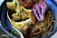 Cauliflower stir-fry with miso chili sauce