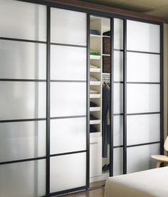 Closet Doors - asian - bedroom - vancouver - The Sliding Door Company Vancouver Sliding Door Company, Sliding Closet Doors, Wardrobe Doors, Door Design, House Design, Asian Bedroom, Shoji Screen, Modern Closet, Room Doors