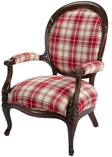 Victorian Walnut Chair #red #plaid #chair #home #decor