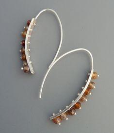 Multi gemstone drop earrings Rachel Wilder by rachelwilder on Etsy