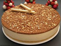 Tarta de turrón - MisThermorecetas.com Cake Thermomix, Thermomix Desserts, No Bake Desserts, Dessert Recipes, Chocolate Cheesecake Recipes, Chocolate Mousse Cake, Nougat Cake, Low Carb Grocery, Pastry Cake