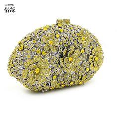 112.80$  Watch here - http://aliebx.worldwells.pw/go.php?t=32789632201 - XIYUAN BRAND New Women's pillow Clutch purses Exquisite Diamond Evening Bag gold Rhinestone Wedding Bridal Handbag wallets gifts 112.80$