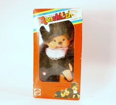 Vintage Toy Monchhichi Doll Mattel 1980s Toy by DoorCountyVintage, $45.00