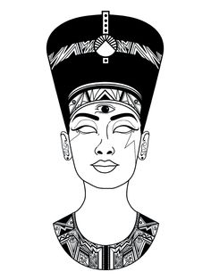 Not Nefertiti. Not Nefertiti. Not Nefertiti. - Not Nefertiti. Not Nefertiti. Not Nefertiti. Kunst Tattoos, Tattoo Drawings, Body Art Tattoos, Art Drawings, Nefertiti Tattoo, African Tattoo, Egypt Art, Arte Pop, Future Tattoos