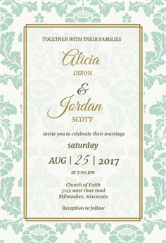 Rustic Frame printable invitation template. Customize, add text and photos.  Print, download, send online or order printed!