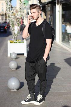 street-svperior:  princeinjeans:  Outfit : - Rick owens long tee - Lanoir pants - Rick Owens Ramones Sneakers - Nicolas Lauer  Street-St...
