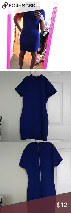 Pretty blue dress Very sexy blue dress. It's never been worn. Has a zipper up the back. The dress doesn't have much of a stretch. Cute for a night out on the town or just casually. Smoke free/pet free home. Forever 21 Dresses