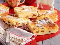 Quarkkuchen vom Blech Rezept | LECKER