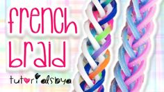 NEW French Braid Rainbow Loom Monster Tail Bracelet Tutorial | How To