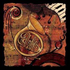Posterazzi Jazz Music III Canvas Art - Inc CW Designs (24 x 24)