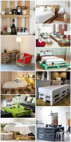 Pallets furniture DIY..like the bottom right by Chrissa1