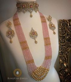 Jewerly fashion necklace jewellery ideas for 2019 India Jewelry, Fashion Jewelry Necklaces, Fashion Necklace, Jewlery, Gold Jewellery Design, Bead Jewellery, Jewellery Shops, Fancy Jewellery, Silver Jewellery
