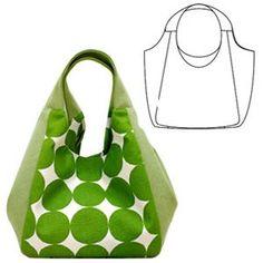 実物大型紙【No.3615】広幅マチと手紐のたっぷりバッグ
