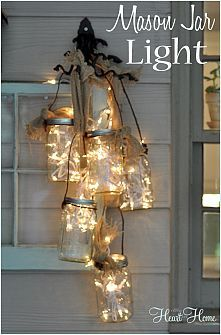 Spectacular outdoor Mason Jar Light!