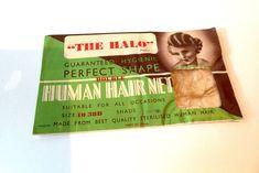 Vintage 1930s Deadstock Human Hair net - Blonde Paper Envelopes, Hair Conditioner, Vintage Hairstyles, 1930s, Prints, Etsy, Hair Rinse, Paper Bags, Vintage Haircuts