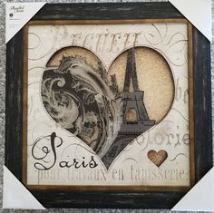 "PARIS Silhouette Charm Wall  Art Picture  Home decor  14""X 14"" in  Elico ltd"