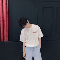 Cute Asian Guys, Cute Korean Boys, Asian Boys, Asian Men, Korean Boys Ulzzang, Ulzzang Boy, Korean Fashion Men, Boy Fashion, Korean Shirts
