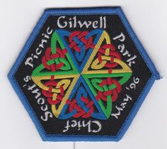 1996-UK-BRITISH-SCOUTS-GILWELL-PARK-CHIEF-SCOUTS-PICNIC-OFFICIAL-BADGE