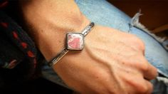 Finished treasure for a treasured friend #silversmith #rhodochrosite #silvercuff #permaculture #offgrid #organic #recycled #recycledsilver #love #tinyhouse #madewithlove