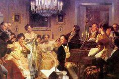 A Schubert Evening in a Vienna Salon (by Julius Schmid).