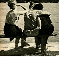 """""""Three on a Beach"""" by iconic Detroit photographer Bill Rauhaser appeared in"""" The Family of Man"""", a photography exhibition curated by Edward Steichen"""