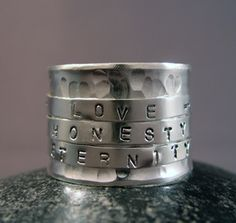 Custom Word Rings that Speak to Your Soul, by Lil McKH Jewelry ($189)