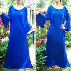 NWT Blue Maxi Dress Fashion Women's Dress Formal / Versatile Plus size XXL | eBay