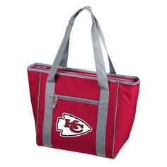 Logo Chairs 30 Can NFL Picnic Tote Cooler NFL Team: Kansas City Chiefs