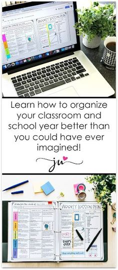 Joey Udovich ~ Creating, If you're on the lookout for the ultimate teacher binder… - Schule Ideen Teacher Binder Organization, Calendar Organization, Teacher Planner, Teacher Hacks, Organized Teacher, Office Organization, Paper Organization, Organizing Tips, Teacher Stuff