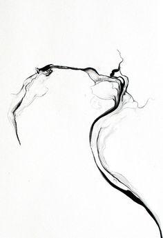 Franziska Furter | Turbulences/phuyu (detail), 2014 | ink on paper
