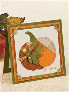 Patchwork Pumpkin Card