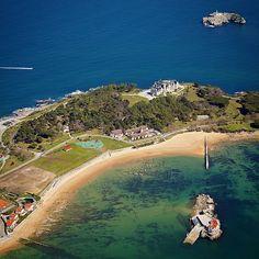 Fotografía aérea de la Península de La Magdalena #Santander #Cantabria
