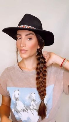 Easy Hairstyles For Long Hair, Braids For Long Hair, Girl Hairstyles, Hair Down With Braid, Loose Braid Hairstyles, Long Hair Dos, Pretty Braided Hairstyles, Medium Hair Braids, Braided Chignon