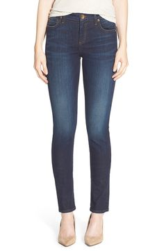 KUT from the Kloth KUT from the Kloth 'Diana' Stretch Skinny Jeans (Blinding) (Regular & Petite) available at #Nordstrom