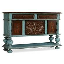 Hooker Furniture - Chest in Turquoise and Brown Finish