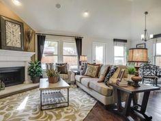 Dunhill Homes Paloma Creek Living Room, Little Elm