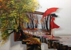 "Saatchi Art Artist Eka Peradze; Painting, ""Woman #47. 50x70cm"" #art"
