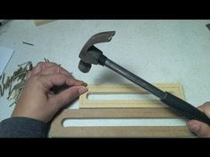 Tutorial Como hacer tu telar rectangular - YouTube