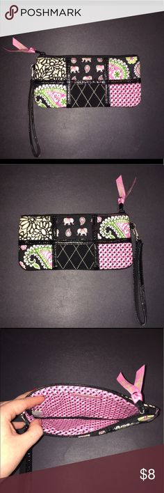 Vera Bradley Wristlet/Wallet Vera Bradley wrist wallet. In good used condition - the wrist handle has some signs of wear as pictured. Vera Bradley Bags Clutches & Wristlets