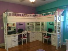 Kids Beds Custom Made Bunk And Bedroom Furniture Dual Loft With Desks. Kids  Room To Go.