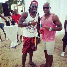 2 of Jamaicas top athletes: World Champion cricketer Chris Gayle and former100m