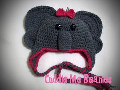 Ravelry: Elephant Beanie Pattern pattern by April Bennett with Cuddle Me Beanies