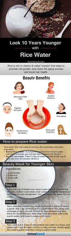 Rice water benefits & How to Prepare for skin and hair, Rice Water for skin care and hair growth
