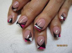 Hot pop pink by fANAtasticNails - Nail Art Gallery nailartgallery.nailsmag.com by Nails Magazine www.nailsmag.com #nailart